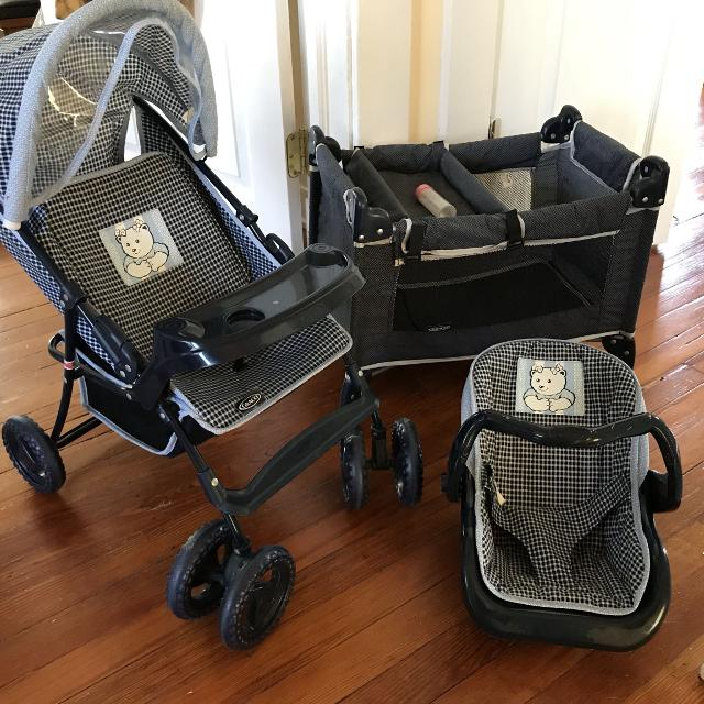 Find more Doll Baby Stroller, Crib, & Carrier Set By Graco ...