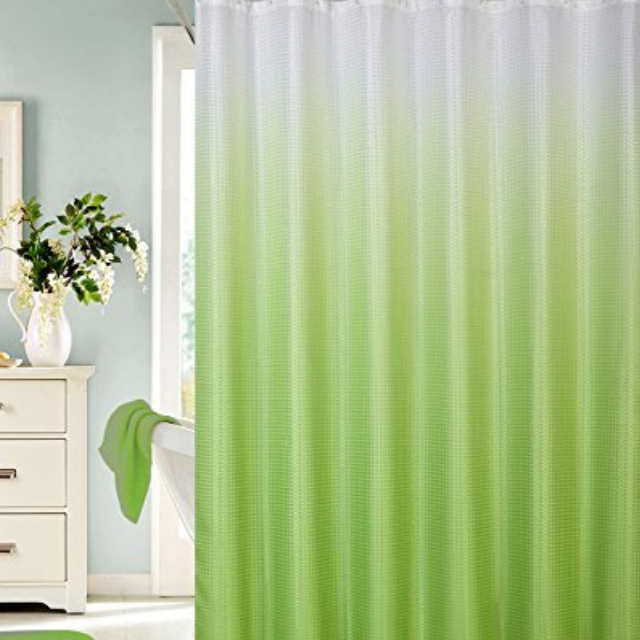 Best New Light Green Shower Curtain And Hooks for sale in Spring ...