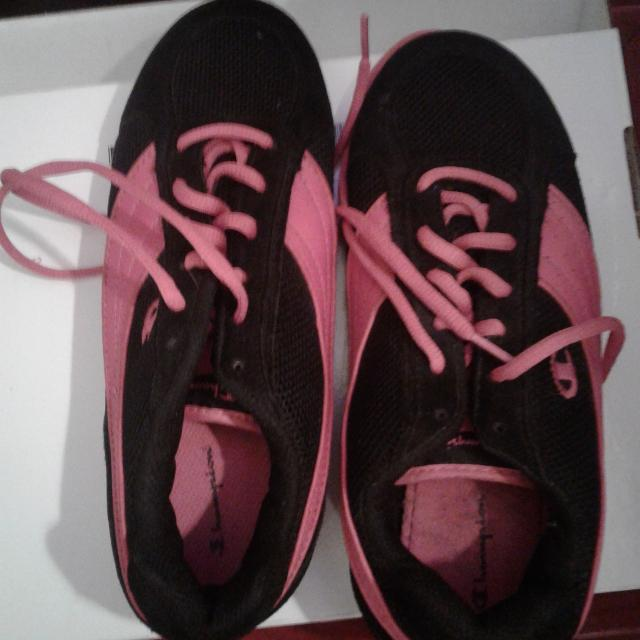 2635bd4a599d0 Find more Black And Pink Champion Tennis Shoes for sale at up to 90% off