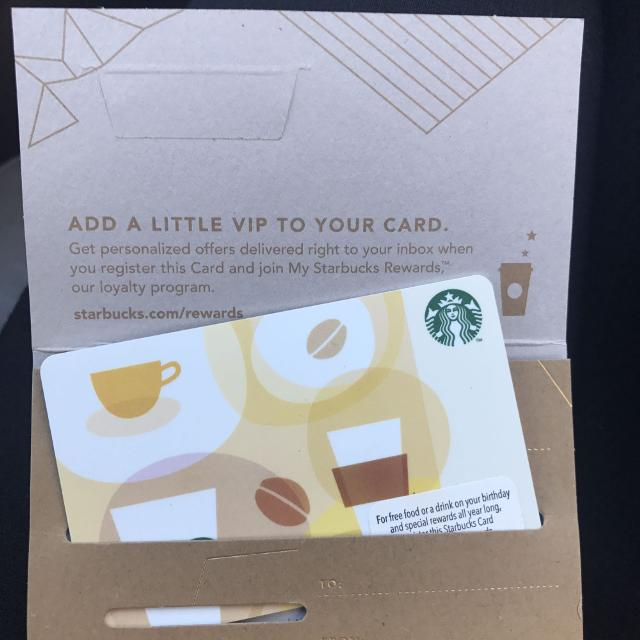 Find More Starbucks Gift Card 15 Is On The Card Selling For 12