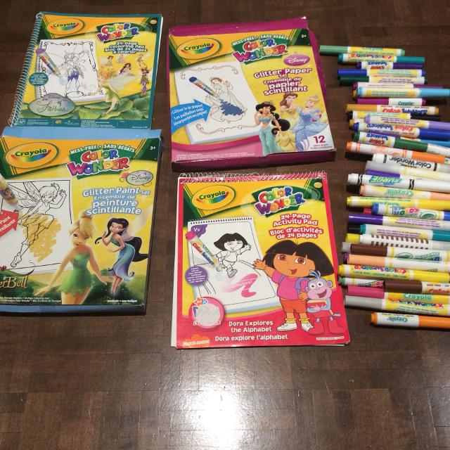 Find more Set Of 4 Used Crayola Color Wonder Books & Markers for ...