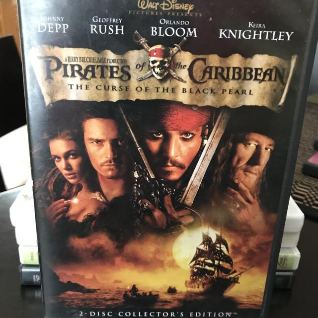 Pirates of the Caribbean 2 DVDs