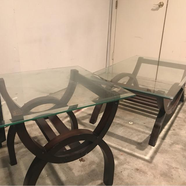 Find More Vguc Glass Top Coffee Table And End Table Set From The