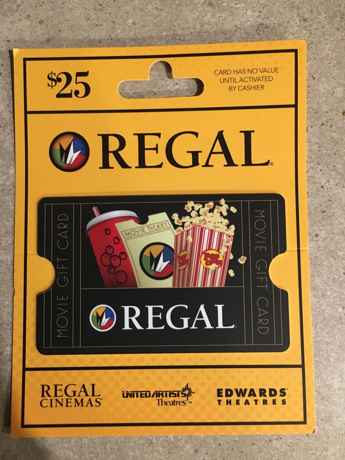 Find More 25 Regal Cinemas Gift Card For Sale At Up To 90 Off