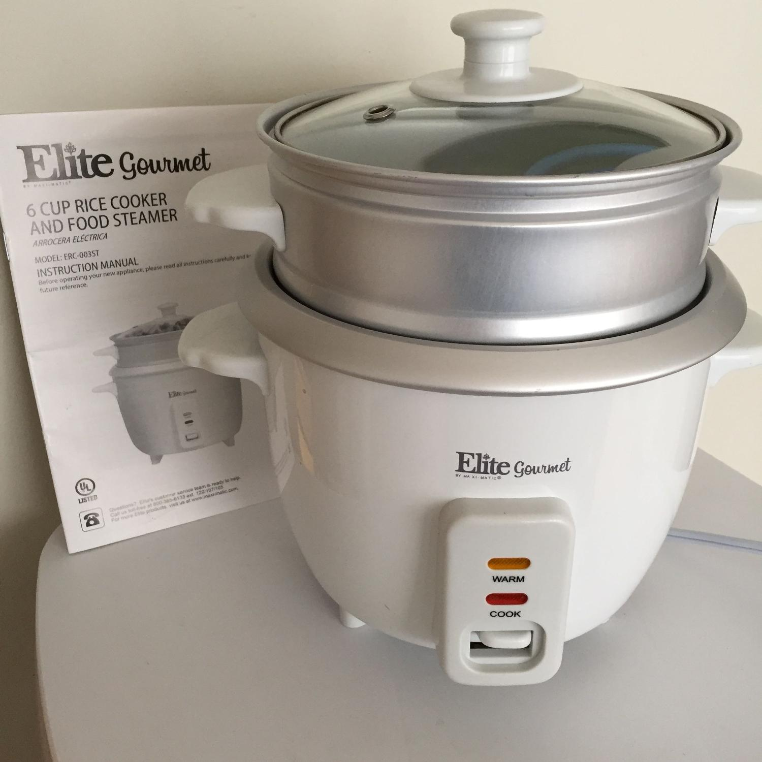 Find More Elite Gourmet Rice Cooker W Steam Tray Used One Time