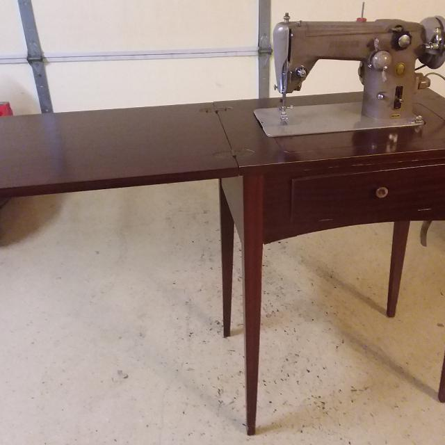 Find More Antique 40's Singer Sewing Machine And Cabinet Chair Simple Singer Sewing Machine 1950 In Cabinet