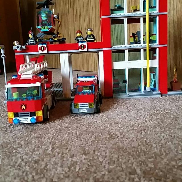 Find More Lego City Fire Station 60004 All Pieces Included For Sale