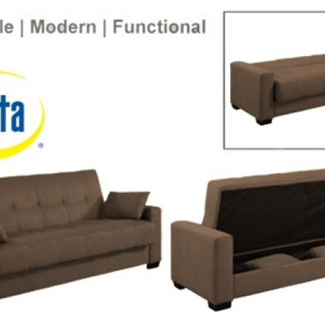 Folding Futon Couch - Storage Underneath