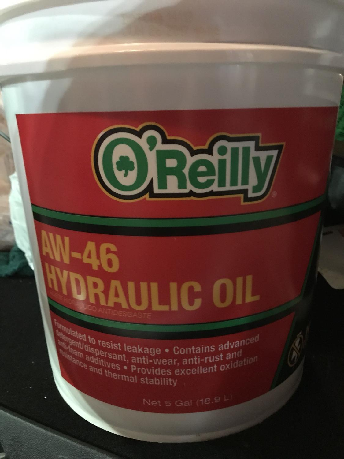 O'Reilly AW-46 Hydraulic oil ^^moving sale!!! 20