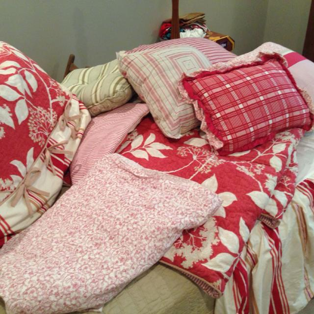 southern living bedding great condition comes with all the coordinating pillows 2 shams dust ruffle fits a full bed