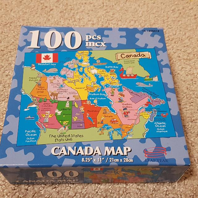 Best Canada Map Puzzle For Sale In Victoria British Columbia For - Canada map puzzles