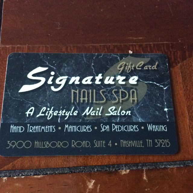 Best Signature Nail Spa Gift Card! Never Used! for sale in Mt ...