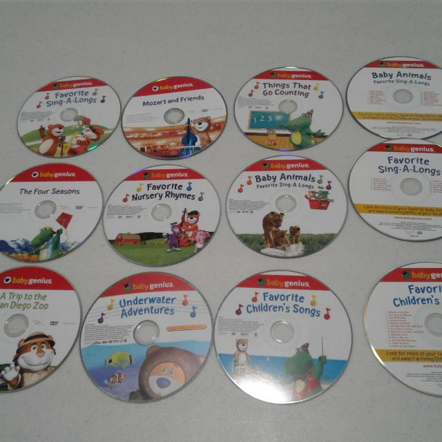 9 Baby Genius Dvds And 4 Cds