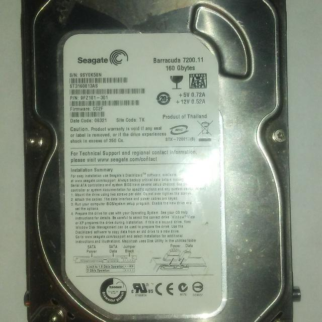 "Best Seagate Barracuda 3.5"" 160 Gb 7200 Rpm Internal Sata Hard Drive St3160813as for sale in Westland, Michigan for 2019"