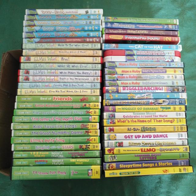 Sesame Street The Letter Of The Month Club.Sesame Street Elmo S World Wiggles Toopy And Binoo Max And Ruby And Veggietales Dvds