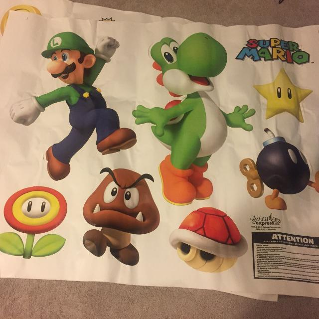 Find More New Giant Super Mario Luigi Wall Decals For Sale At Up