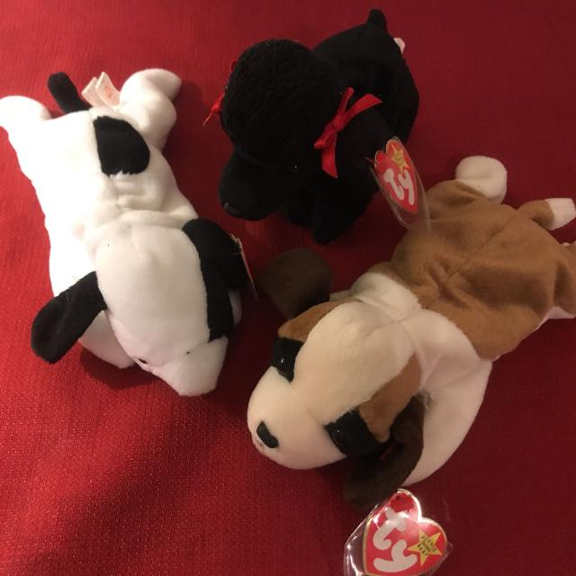 Find more Set Of Three (3) Ty Beanie Baby Dogs - L To R  Spot f4f11db50536