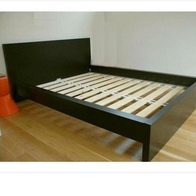 Ikea Malm Queen Bed Frame Black With Nightstand