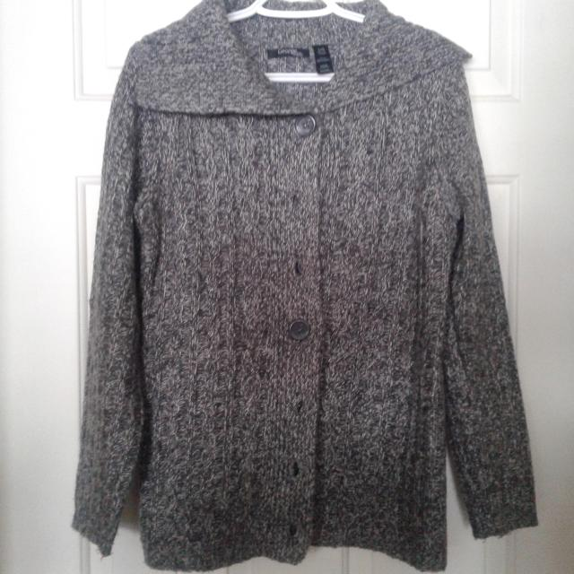 Best Ladies Dark Grey And White Sweater..size Large for sale in ...