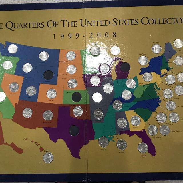 Best State Quarters And Display Map Collectible Set for sale in Land ...