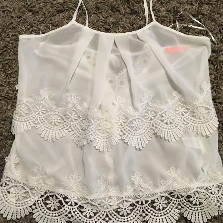 EUC Sheer Lace Blouse for sale  Canada