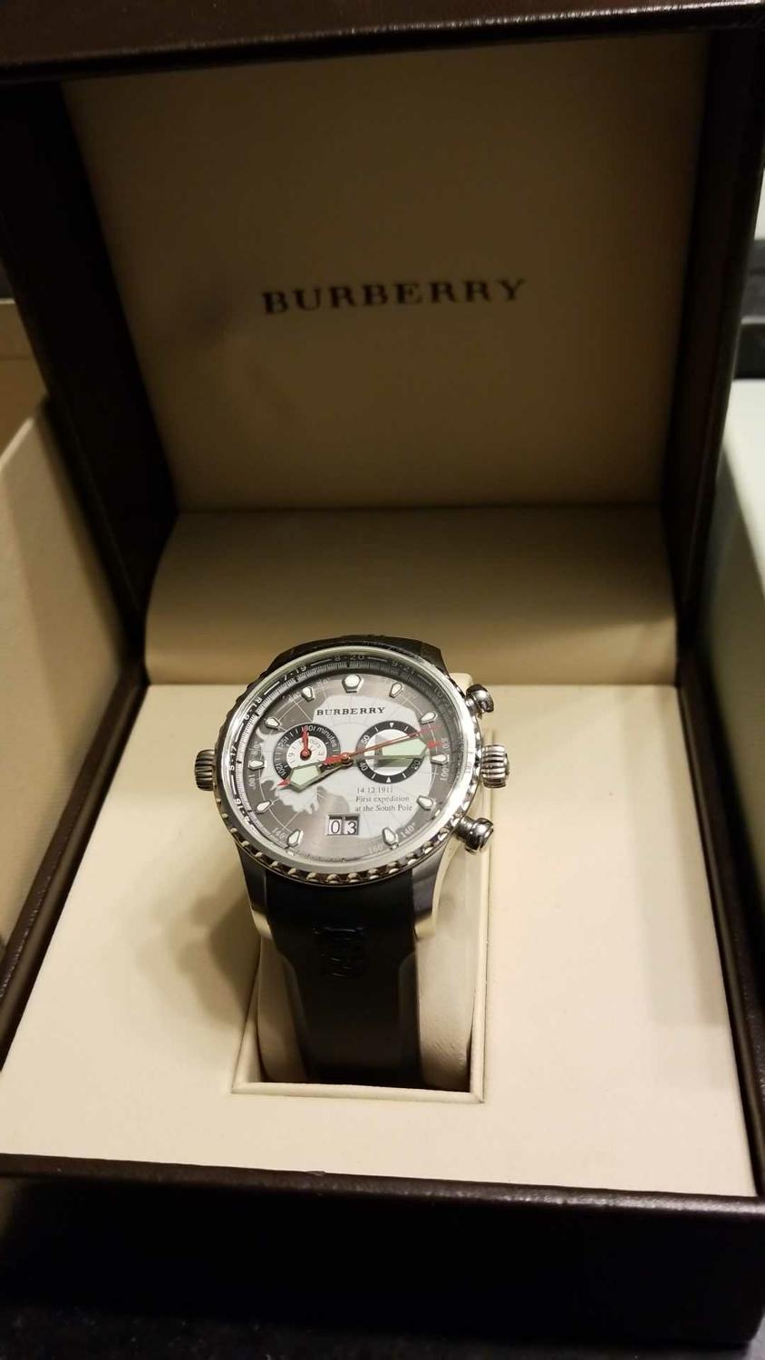 Best Burberry Men's World Watch Chronograph Bu7502 for sale in Champaign,  Illinois for 2018