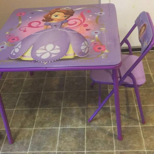 Find More Sofia The First Table And Chair For Sale At Up To 90 Off