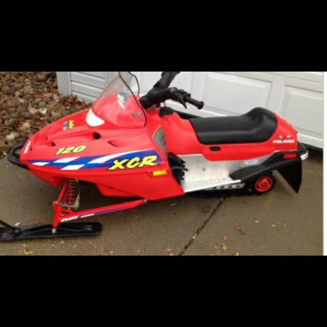 Kids Polaris XCR mini sled