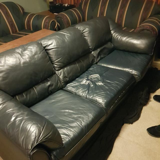 Find More Faux Leather Couch With Black Cloth Couch Cover For Sale