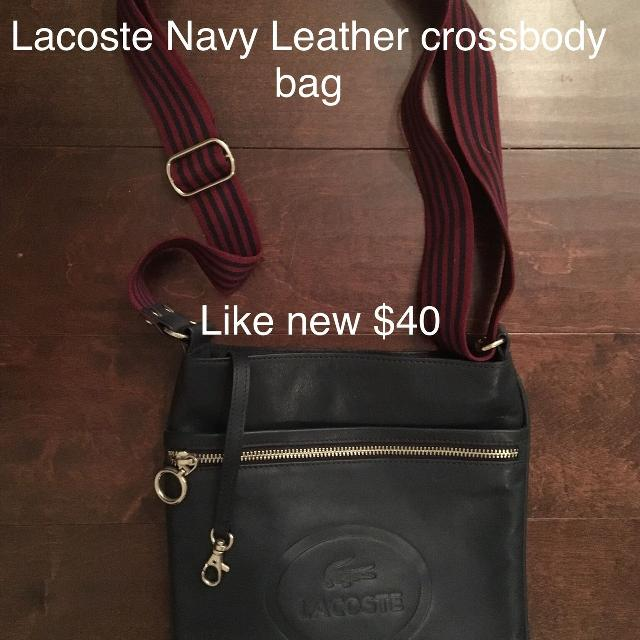 40bdbd190a8 Best Lacoste Navy Leather Cross Body Bag Like New! for sale in Stouffville,  Ontario for 2019