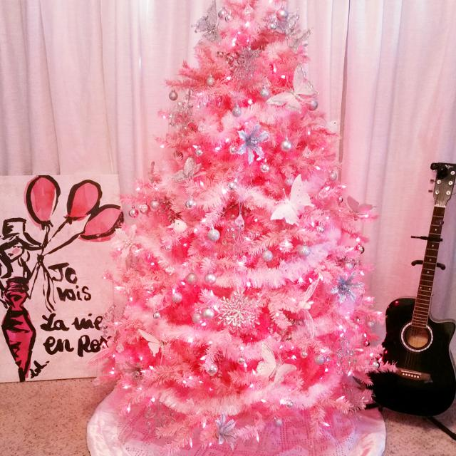 6 Light Pink Pre Lit Christmas Valentines Tree W Decorations