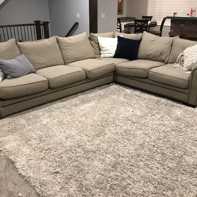 Large 100 Down Sectional Sofa