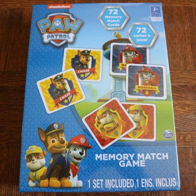 best paw patrol memory match game for sale in dollard des ormeaux