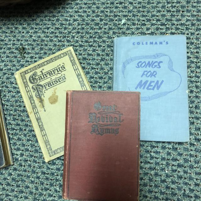 Old church song books