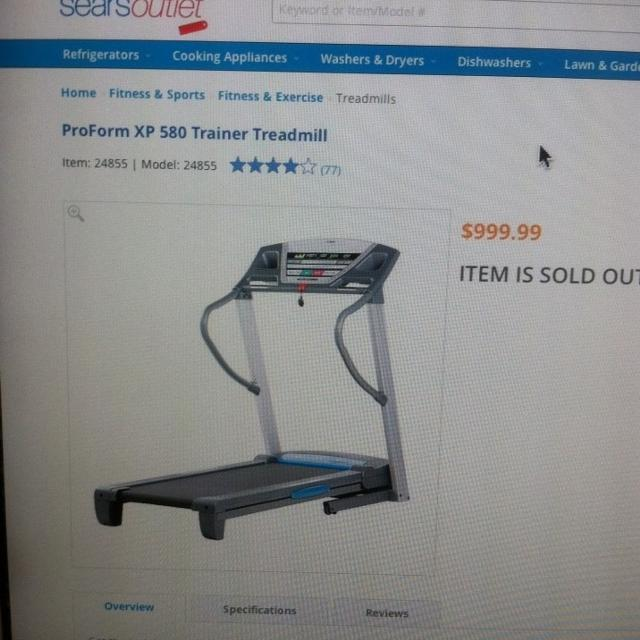 Proform XP580 Trainer Treadmill with Manual-Great working Condition-$500 or  best offer500