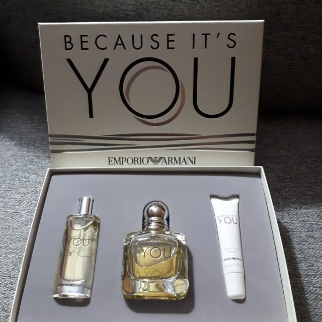 Find More Emporio Armani Because Its You Perfume Gift Set For
