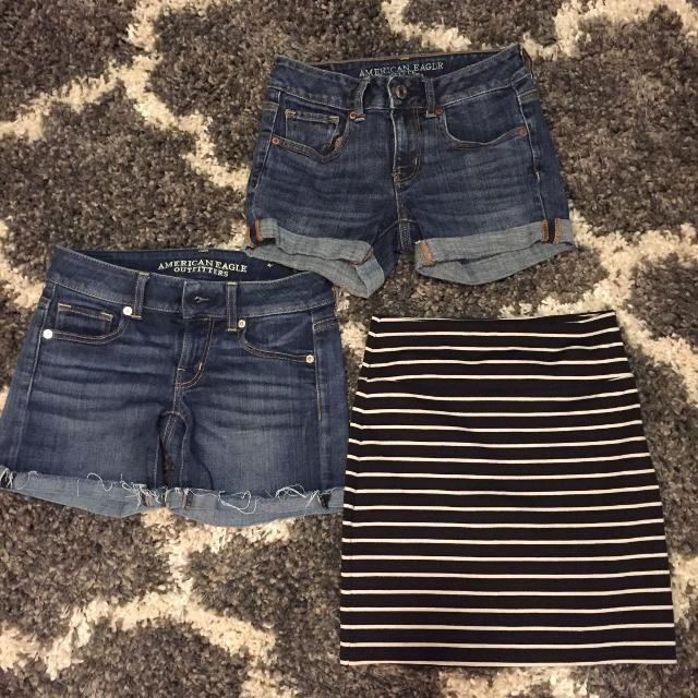 f175588690 Find more American Eagle Lot- Denim Shorts And A Skirt for sale at ...