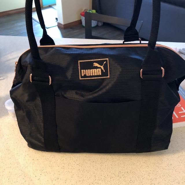 fb17616525 Find more Puma Gym Bag - Rose Gold And Black for sale at up to 90% off