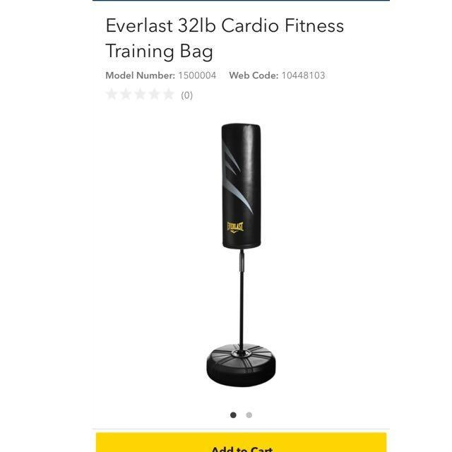 1a76de376570 Find more Everlast 32lb Cardio Fitness Training Bag - Brand New for sale at  up to 90% off