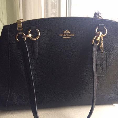 Purses New Black Leather Coach Tote Bag