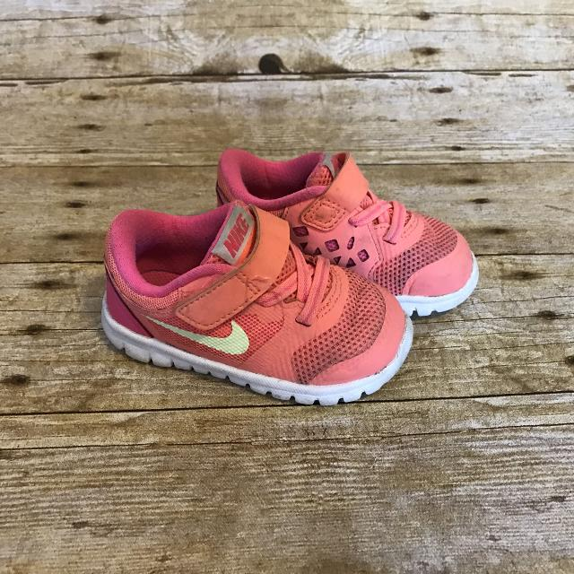 6ade3b27c0 Find more Nike Flex Coral Pink Toddler Girls Shoes 5c for sale at up ...