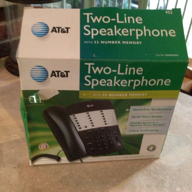 At T Two Line Speakerphone Have 3 Available Price Is For Each Phone