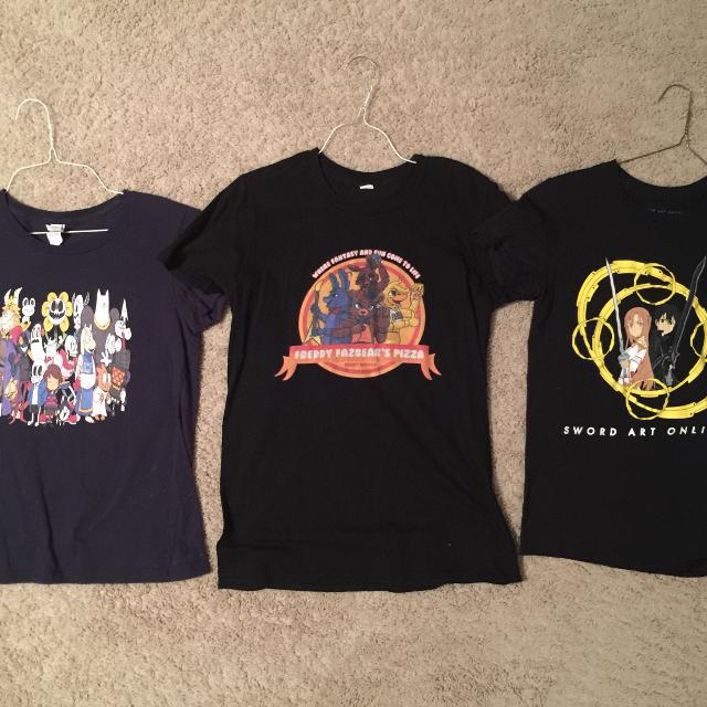 Undertale, Five Nights at Freddy's and Sword Art Online Shirts from Hot  Topic