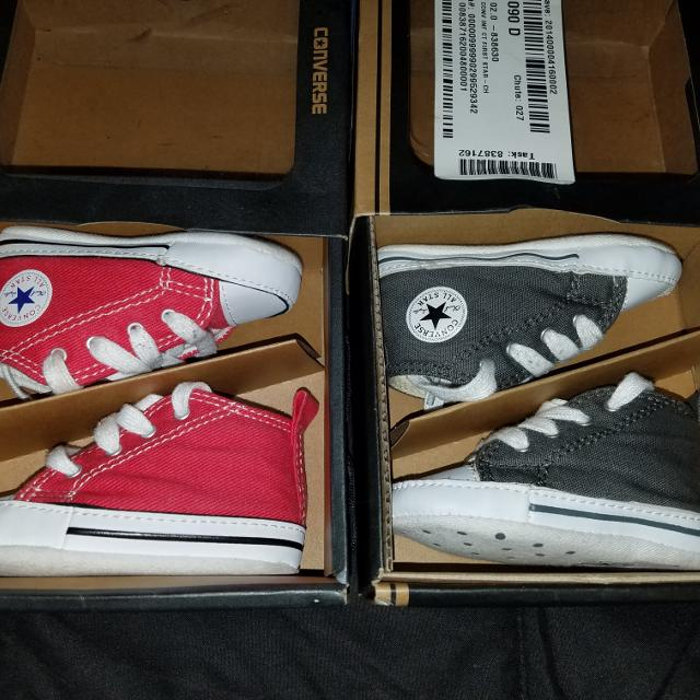 19f780a19094e9 Find more 2 Pair Of Baby Converse Size 2c for sale at up to 90% off