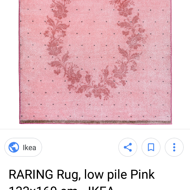 New In Package Ikea Pink Rug