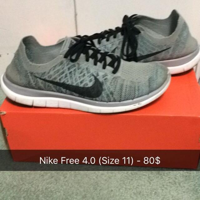 new concept 08621 7f8db Nike Free 4.0 Men's Shoes - Size 11