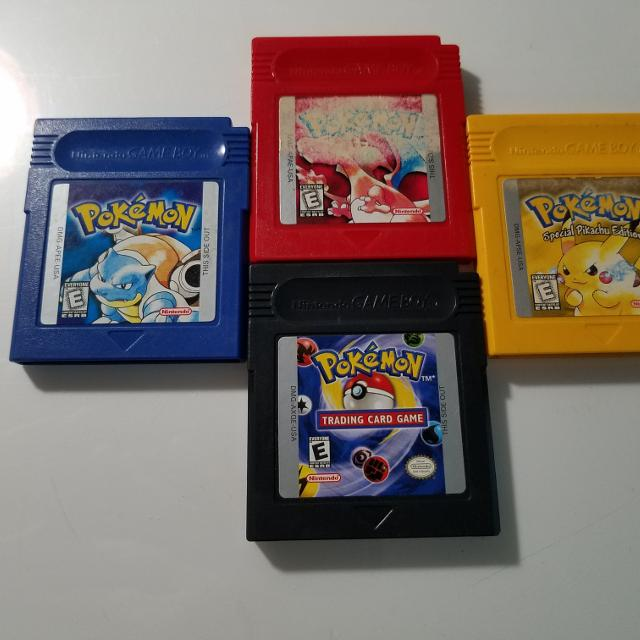 gameboy with pokemon red