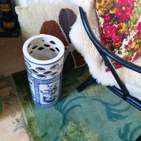 Used, Large vase/umbrella holder blue and... for sale  Canada