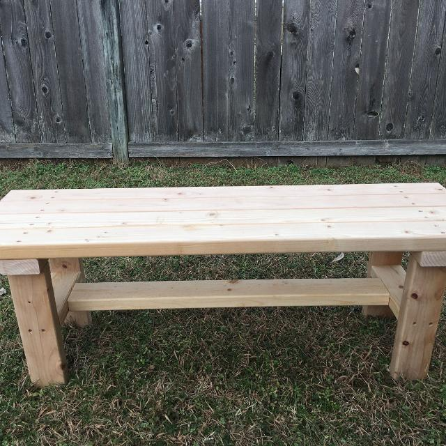 Unfinished Wooden Bench