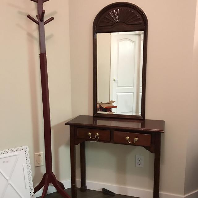 Best Entrance Mirror Stand And Floor Coat Hanger For Sale In Kelowna